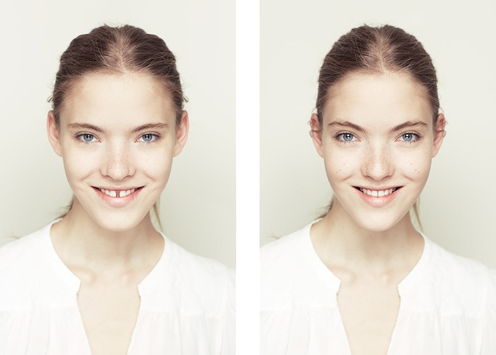 Photographer Explores Beauty Through Facial Symmetry Twiks
